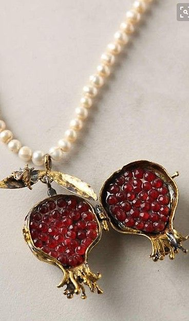 Plucked Pomegranate Necklace