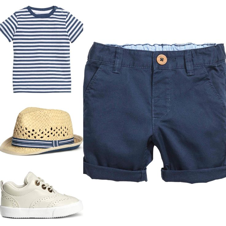 Baby boy marine themed outfit, nautical. Blue and white stripes. H&M 2016 summer.
