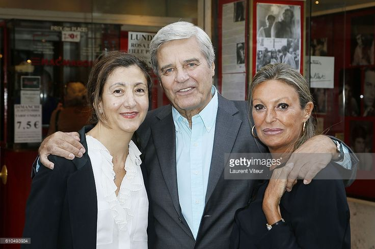 Ingrid Betancourt, Jean Sorel and Paricia Balme attend the Tribute to French Actor Jean Sorel at Mac Mahon Cinema on September 25, 2016 in Paris, France.