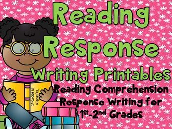 FREEBIE in the PREVIEW!!!! Reading Response Writing Printables for Comprehension ~ 1st-2nd Grades