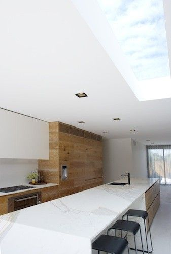 Modern extension with large roof light