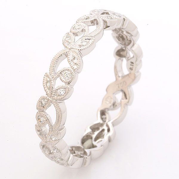 Wedding Ring Bands >> I love this as an actual wedding band | color | Pinterest | Diamond, Floral and Ring