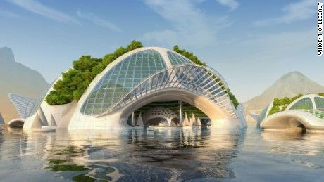 Belgian architect Vincent Callebaut has revealed ambitious plans for a series of underwater eco-villages that could house up to 20,000 people each in the future.
