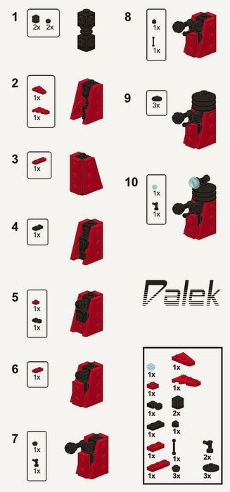 how to build a dalek out of legos. not saying i'm gonna need this, but i'm gonna need this.