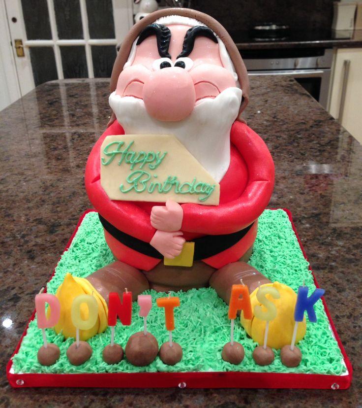 Grumpy Dwarf Cake Grumpy Pinterest Grumpy Dwarf And