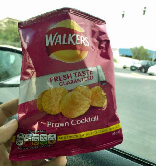 Prawn cocktail favoured crisps.   26 Food Quirks That British People Don't Realise Are Weird
