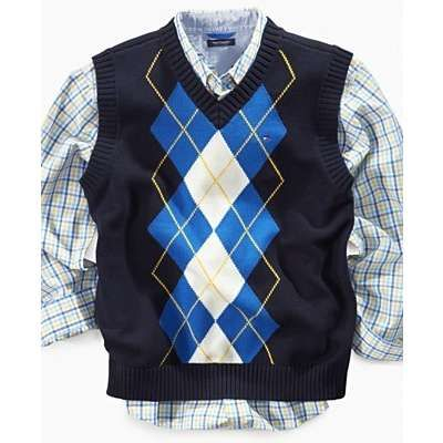 boys christmas vest   ... Hilfiger Kids Sweater, Boys Benjamin Argyle Sweater Vest   ThisNext