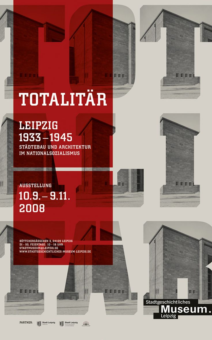 Brutality in stone – Gourdin & Müller's Totalitär exhibition poster – urban planning and architecture under national socialism