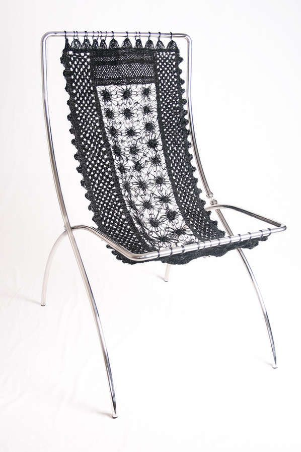 Recycled Car Tyre Chair, perfect for the pool  #recycedtyres #aboutthegarden.com.au