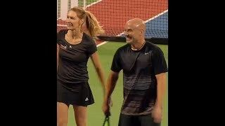 MUST SEE ( exclusive ) Steffi Graf and Andre Agassi  Tennis Practice