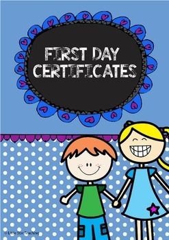 First Day Certificates:Here are some cute First Day Certificates that you can use for when your kids complete their First Day of School!These First Day Certificates are available for both Australian and US teachers.These First Day Certificates are available for:- Grade 1, Grade 2, Grade 3- Kindergarten- Pre-K- Preschool- Pre-Primary- Foundation- ReceptionWhen I use the First Day Certificates, I print them onto coloured cardstock, fill them in and laminate them before giving them to the kids.