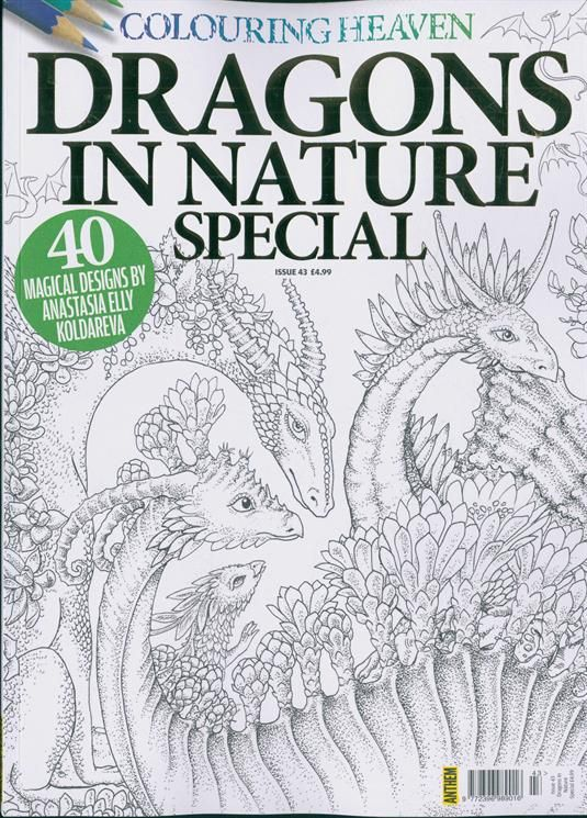 Colouring Heaven Dragons In Nature Issue 43 Google Search Colouring Heaven Coloring Books Color
