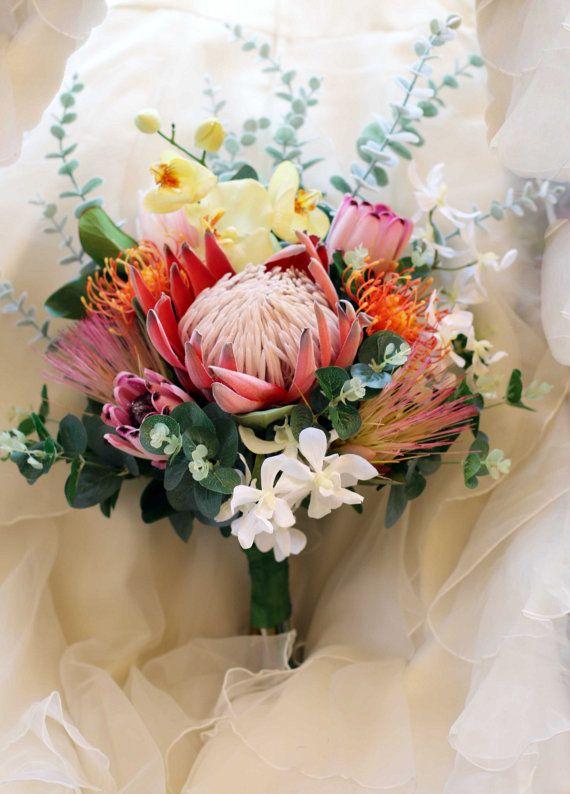 Bride Bridesmaid Bouquet Boho Wedding Bouquet Of Native