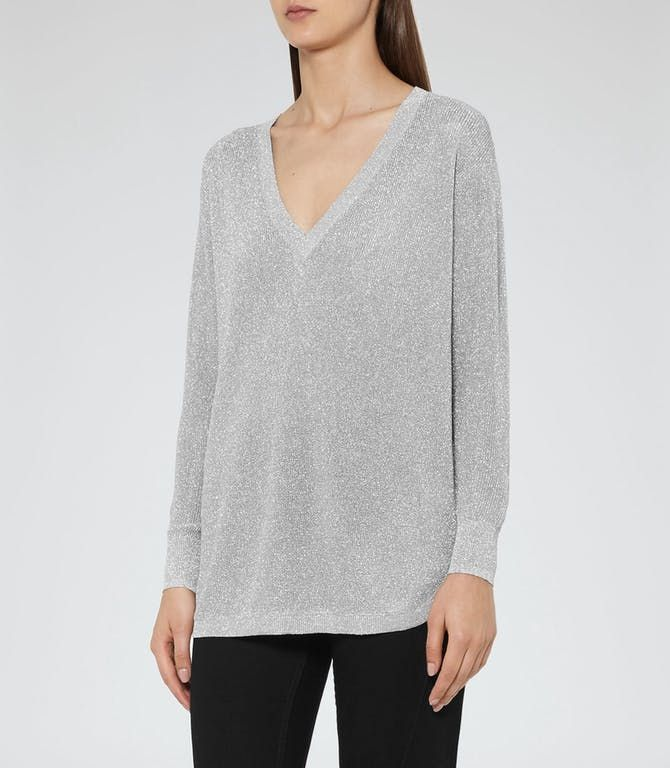 BLESS METALLIC JUMPER SILVER