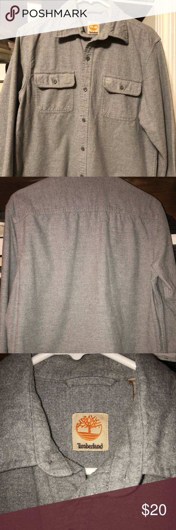 Timberland Button Up Timberland Button Up Size M in grey, perfect condition very warm cold weather shirt Timberland Shirts Casual Button Down Shirts