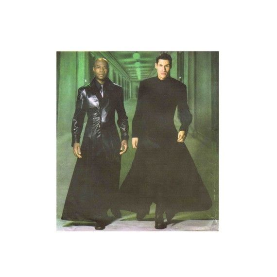 Mens Matrix Long Duster Coat Costume Simplicity 5386 Sewing Pattern