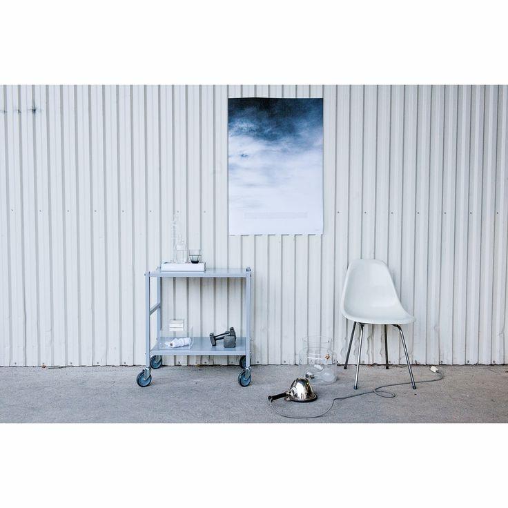 Domo table on wheels grey – Domo #interior #design #scandinavian