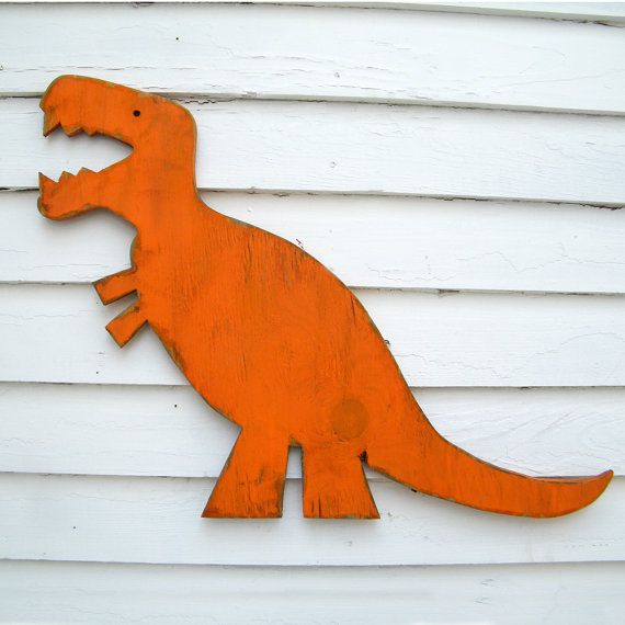T Rex Wall Art Dinosaur Large Baby Nursery Wall by SlippinSouthern, $79.00