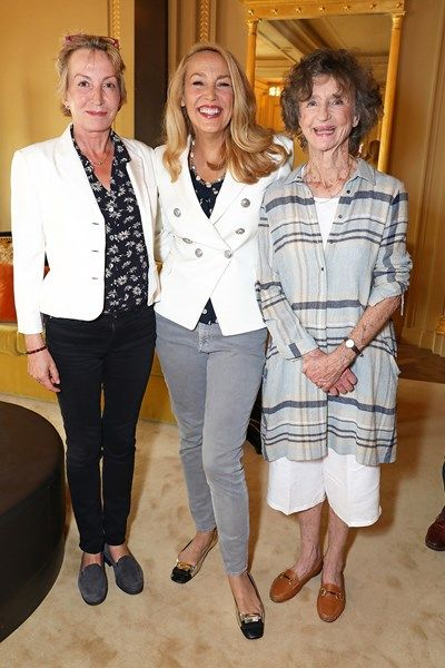 MAYFAIR 16th June 2017. Jade Jagger jewellery launch party. Caroline Somerset, Jerry Hall and the Marchioness of Dufferin and Ava - She was the wife of the 5th Marquess of Dufferin and Ava (died s.p. 29 May 1988). On the death of the 5th Marquess of Dufferin and Ava all his titles except for the Barony of Dufferin and Clandeboye became extinct - the barony was inherited by his fourth cousin once removed, Sir Francis George Blackwood, 7th Bt., who succeeded as 10th Baron Dufferin and…