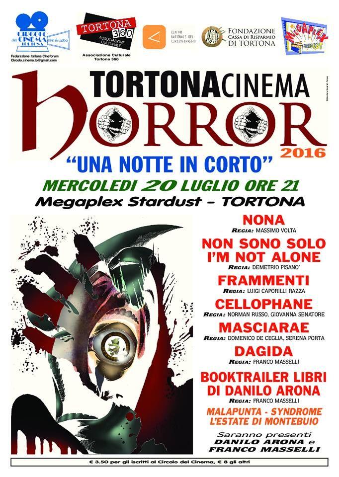 """Locandina con """"Non sono solo"""" del Tortona Cinema Horror."""
