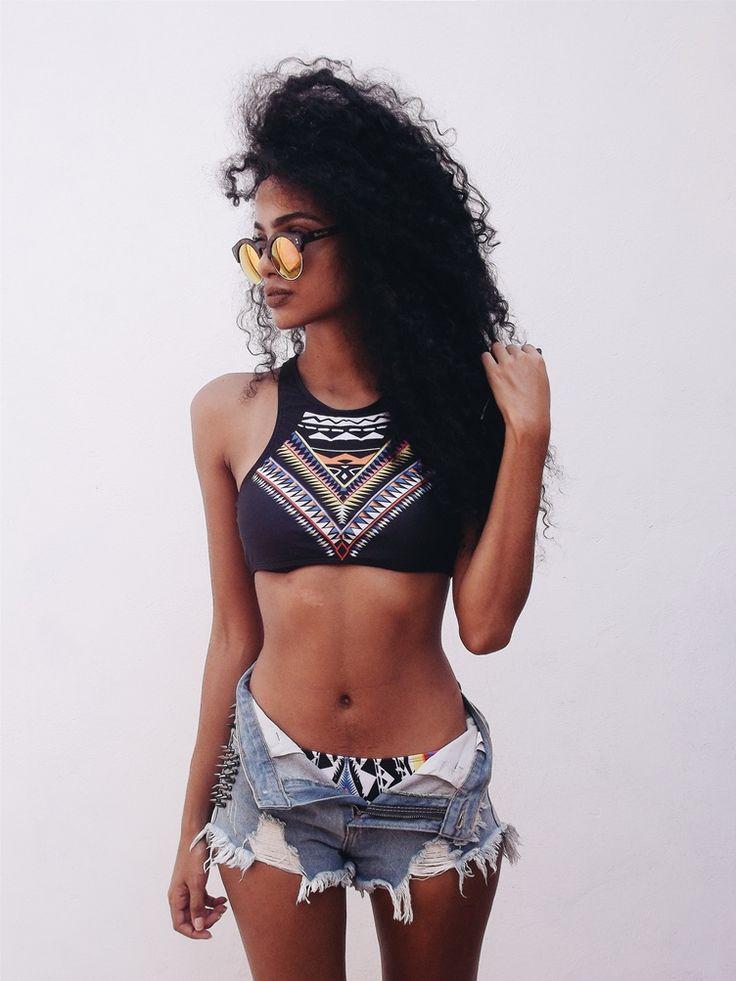 Finíssimas Fashion: Look do dia || Outfit: Tribal Bikini!