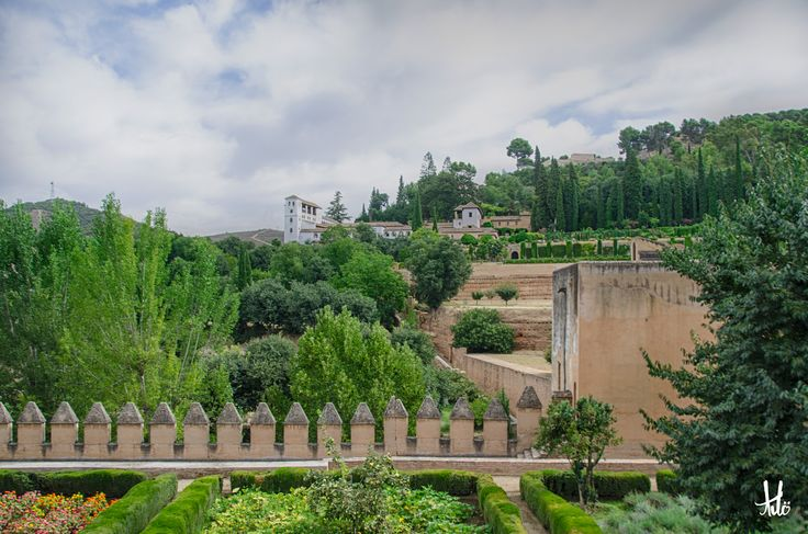 The Alhambra (the Red Castle) is a heavily and craftily restored Moorish historical site in Andalusia, Spain.