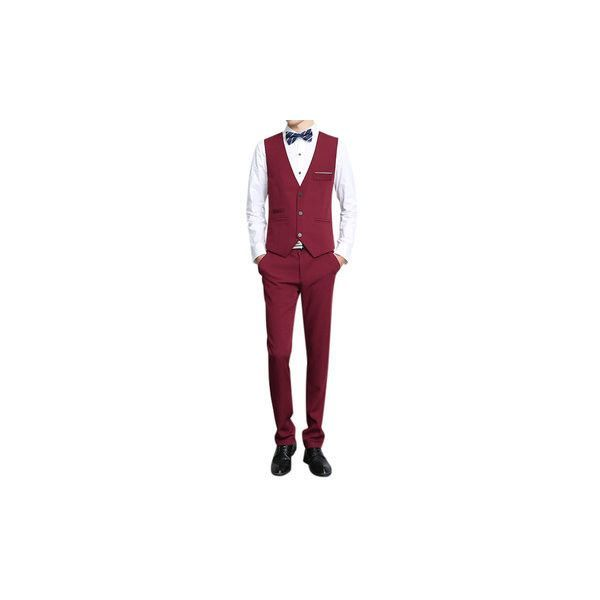 Three Pieces Formal Fashion Thin Slim Fit Blazer Suit (€34) ❤ liked on Polyvore featuring men's fashion, men's clothing, men's suits, men suit & blazers, wine red, mens short sleeve blazer, mens slim fit 3 piece suits, men's apparel, mens slim blazer and mens three piece suit #mens3piecesuits