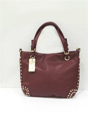 Taş Detaylı Çanta - Bordo - Can Bag çanta modelleri, sırt çantası, yılan derisi, tutmalı çanta, çanta markaala.com.tr #moda #fashion #diy #tesettür #çanta