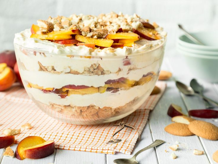 Pfirsich-Cheesecake-Trifle ohne Backen