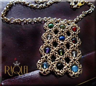 Gold HOSHEN NECKLACE  Aaron's breastplate by Raquelchelouche