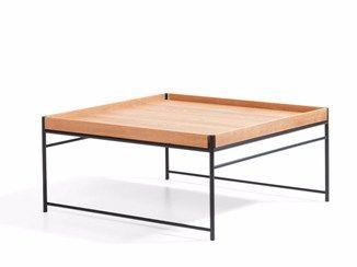 Mesita cuadrada de madera UNIT | Mesita