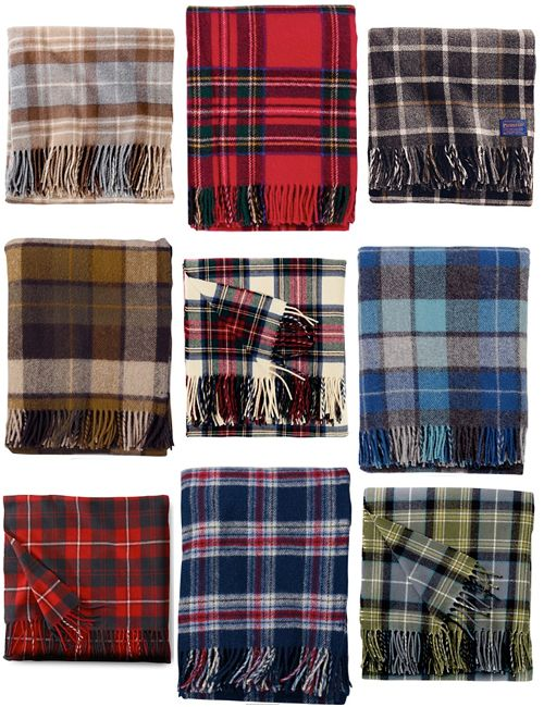plaid blankets from pendelton.