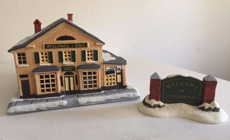 Rockwells Christmas in Stockbridge 1993 William and Sons Country Store  #HawthorneVillagesfromtheBradfordGroup