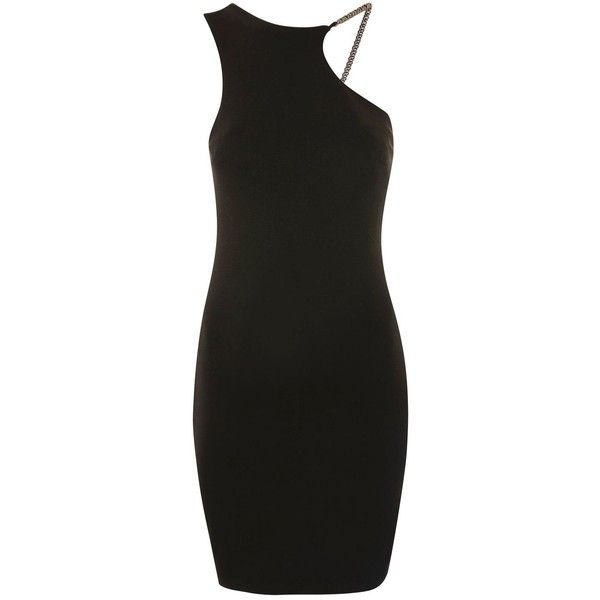 Topshop Chain Curve Mini Bodycon Dress ($41) ❤ liked on Polyvore featuring dresses, topshop, body con mini dress, rayon dress, topshop dresses, mini dress and bodycon cocktail dresses