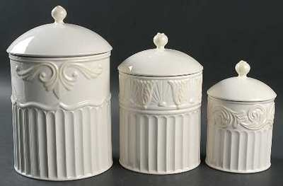 3 pc canister set 2011 release lenox butler 39 s pantry