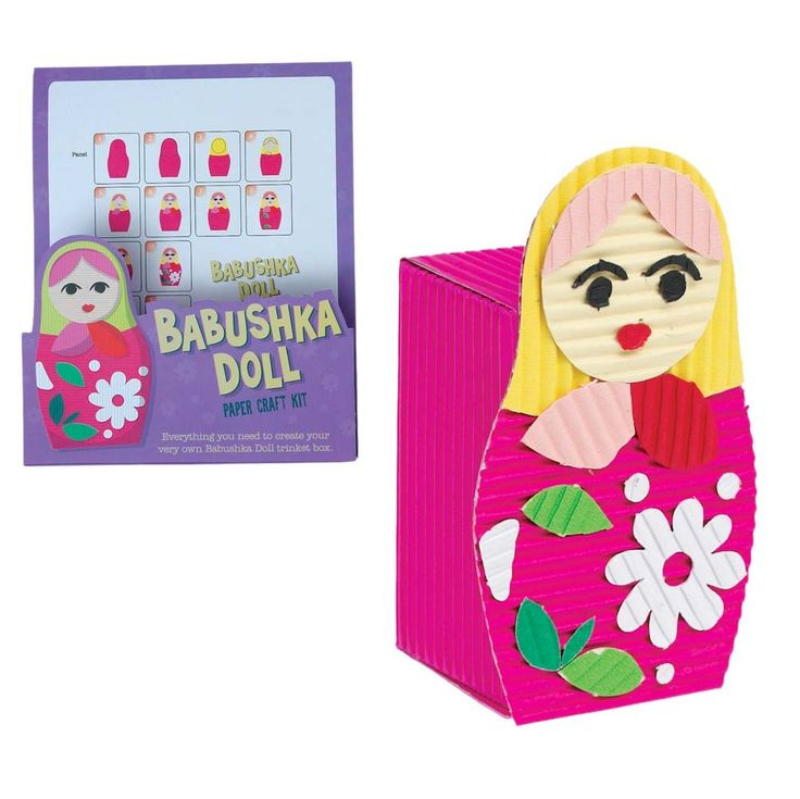 Babushka doll paper craft kit, everything you need to create your very own Russian doll trinket box. £2.99