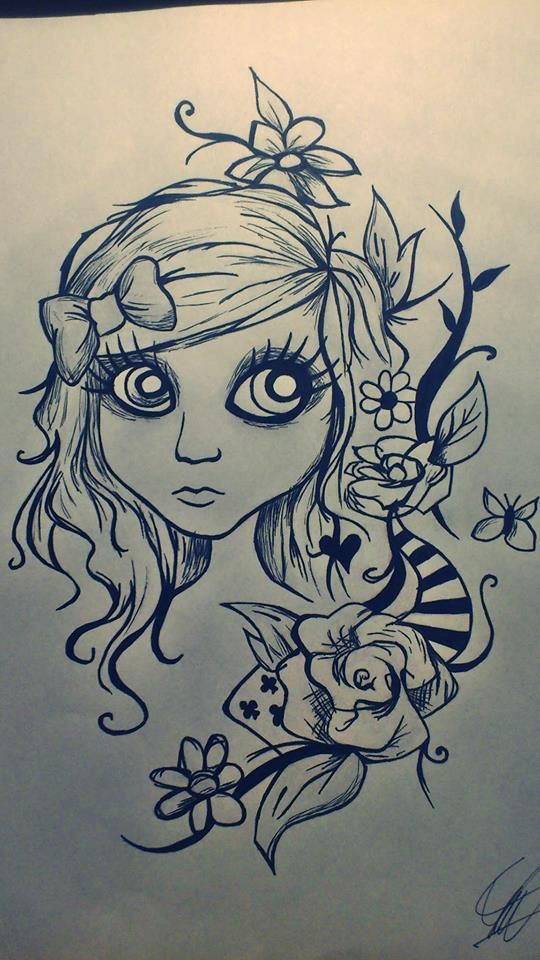 #cutegirl #drawing #blackandwhite