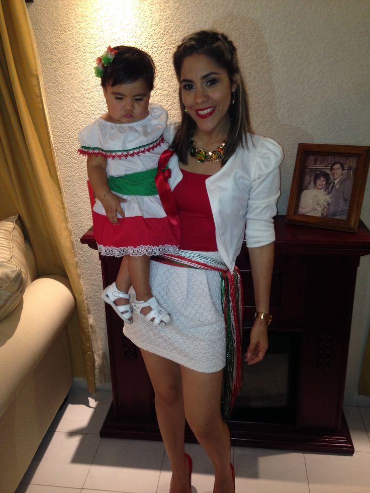 Outfit 15 de Septiembre  Baby and Woman Viva México 2015
