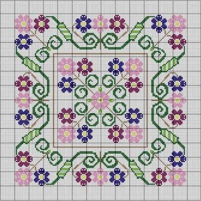 Primavera Needlepoint Pattern
