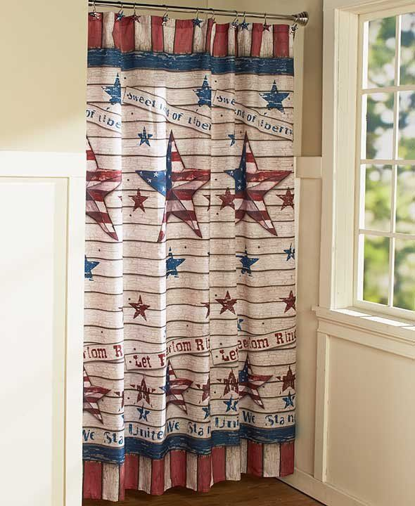 The Americana Bathroom Collection is the perfect complement to your rustic-style decor. Each coordinating piece features a paneled-wood look with stars, stripes