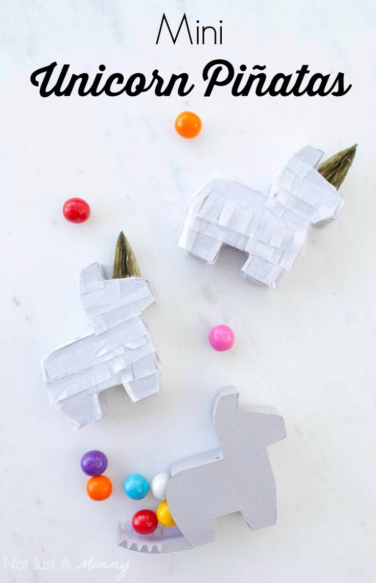 Your unicorn party needs mini unicorn piñatas!