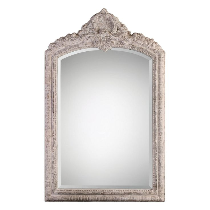 charente aged ivory arch mirror by uttermost - Uttermost Mirrors