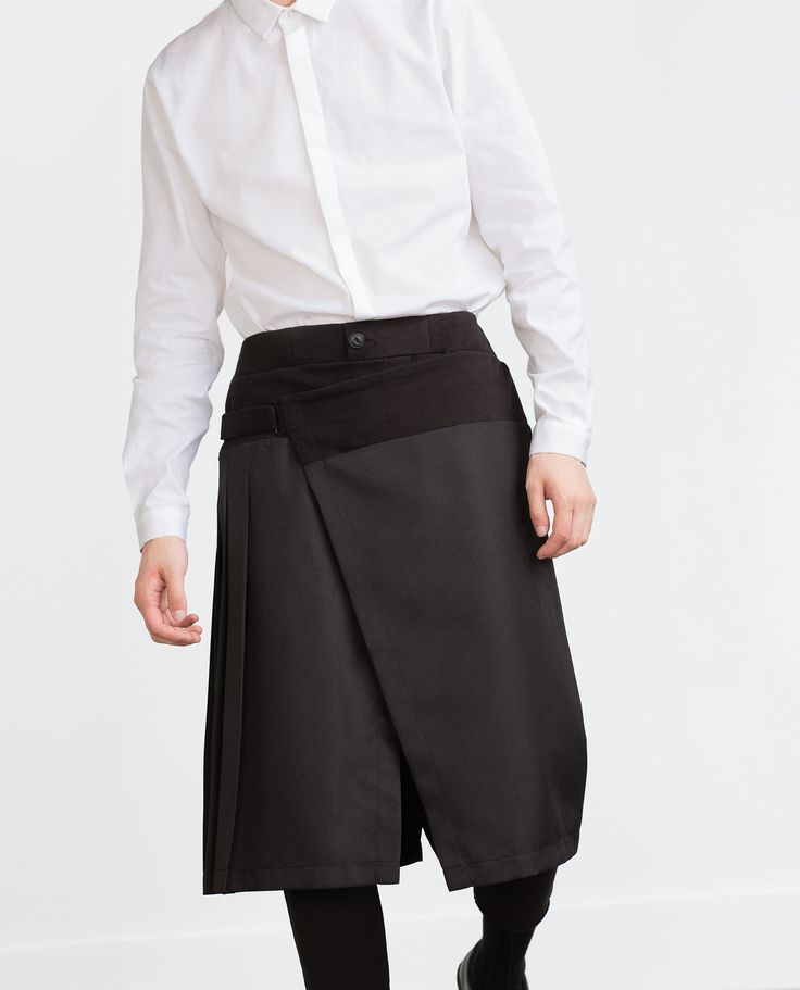 TROUSERS WITH OVERLAID SKIRT - View all - Trousers - MAN | ZARA Belgium
