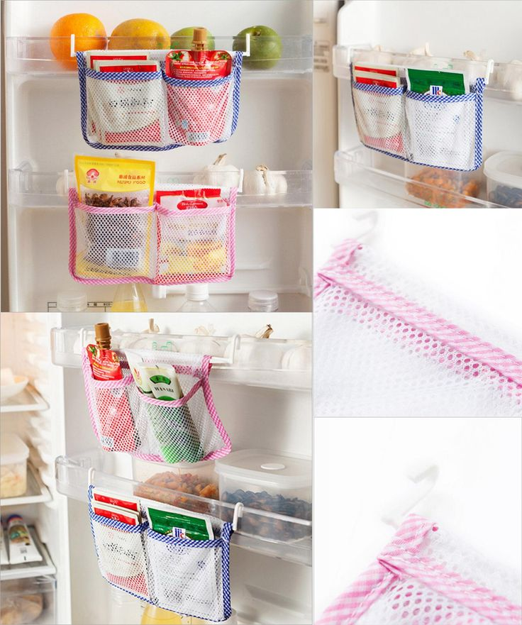 [Visit to Buy] Refrigerator Mesh Storage Bag Tidy Seasoning Organizer Bag For Fresh Food Portable Storage Case for Freezer Free Shipping 281 #Advertisement