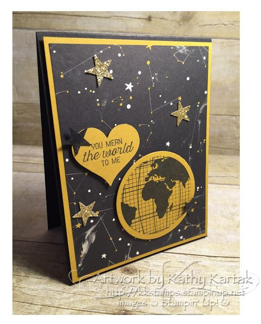 "Creation Station: Going Masculine--I love this Going Global Designer Series Paper from Stampin' Up and the coordinating ""Going Places"" stamp set. So great for a masculine card!"