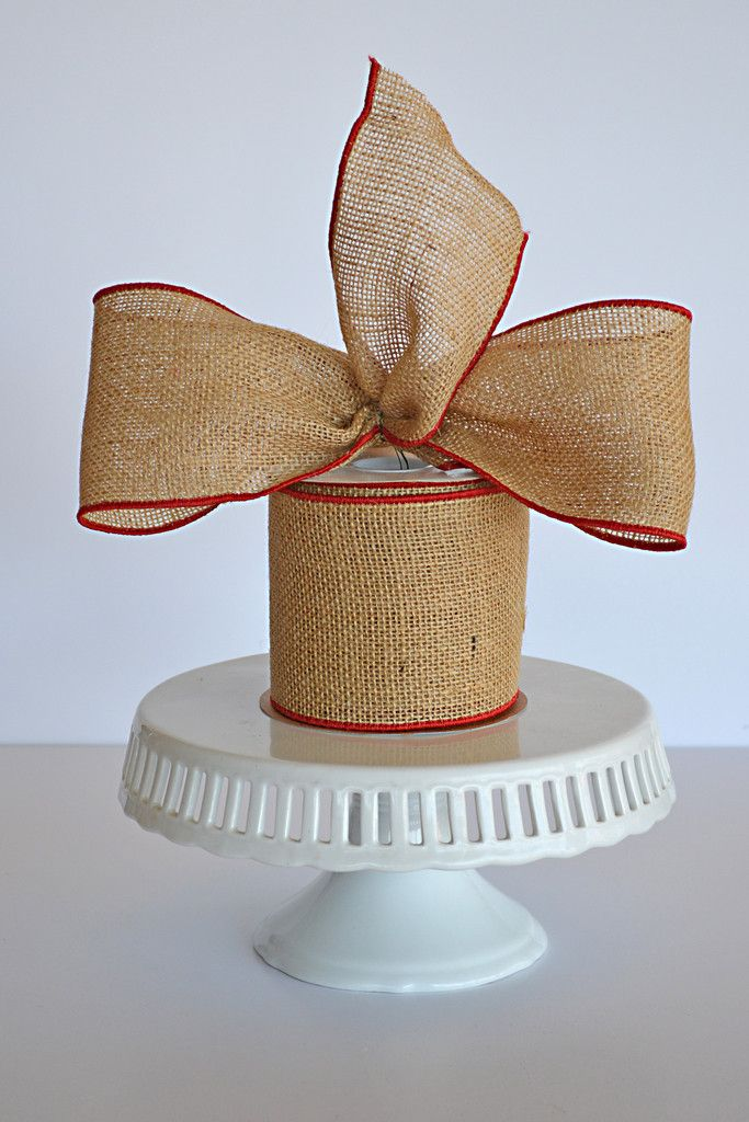 221 best images about show me decorating on pinterest for Decorating with burlap ribbon for christmas