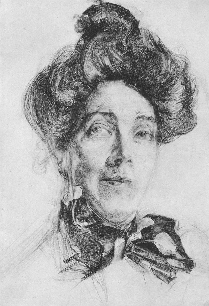 Врубель. Портрет Н.И.Забелы-Врубель. 1905