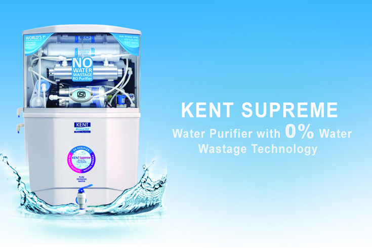 Kent Supreme - Zero Water wastage RO Purifier - Read review, features, and specification that makes this water purifier the best water purifier in India 2017. Read this article to know more