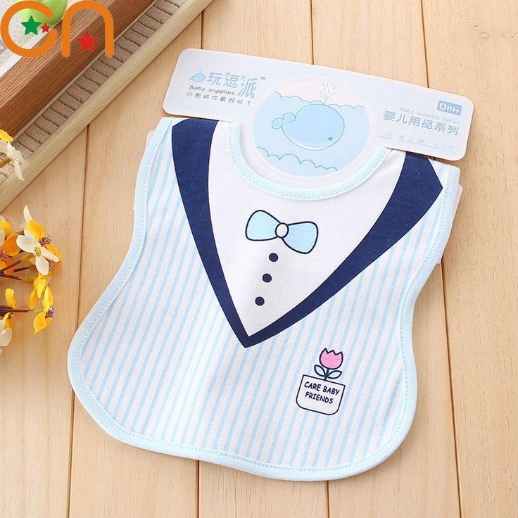 Baby fashion cotton bibs Infant Saliva Towels Newborn Burp Cloths apron Girl Boy gentleman Lady style waterproof Bib 0-3 yrs CN