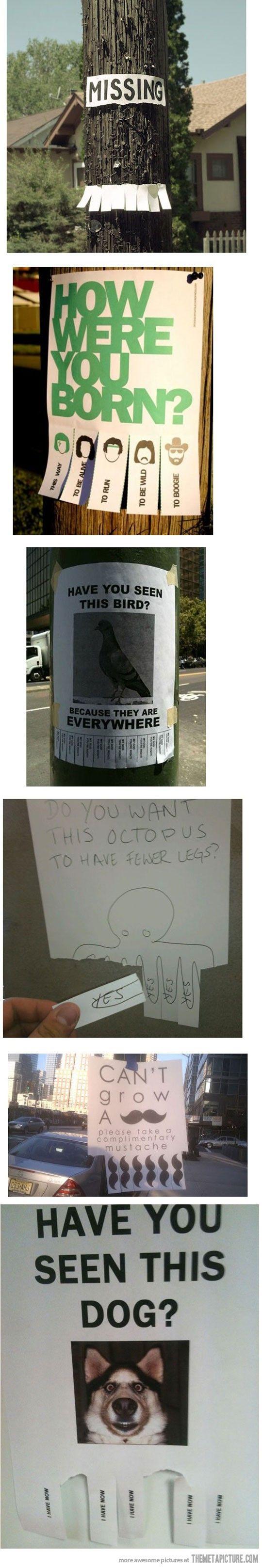 Sarcasm! Hilarious signs....